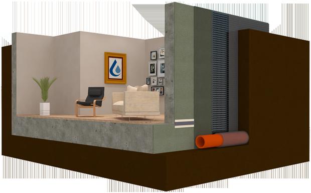 A Safeguard External Basement Waterproofing System