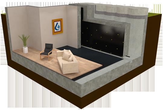 A Safeguard Piled Wall Basement Waterproofing System